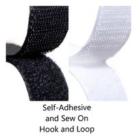 Sew On and Self Adhesive Hook and Loop Fastener Tape