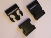 50mm Black Plastic Side Release Buckles x 2