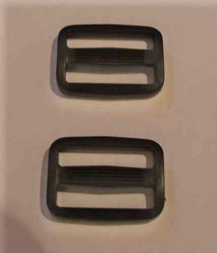 25mm Black Plastic Tri Glide Buckles x 10