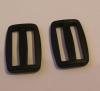 30mm Black Plastic Tri Glide Buckles x 10