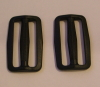 50mm Black Plastic Tri Glide Buckles x 10