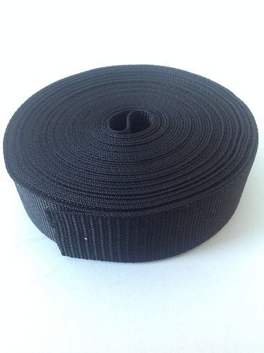38mm Black Nylon Webbing x 10 metres
