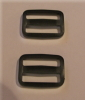 25mm Black Plastic Tri Glide Buckles x 50