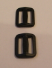 15mm Black Plastic Tri Glide Buckles x 10