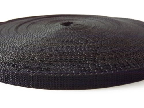 10mm Webbing Strapping Black Per 100 meter Lengths