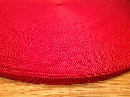 10mm Webbing Red in 50 metres length