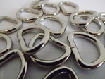 25mm Welded Metal D Ring Buckles x 10 for Webbing