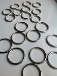 25mm Welded Metal O Ring Buckles x 10