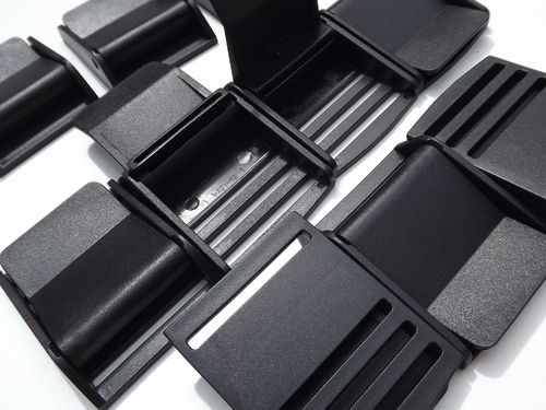 50mm Black Plastic Cam Lever Flap Buckle x 10