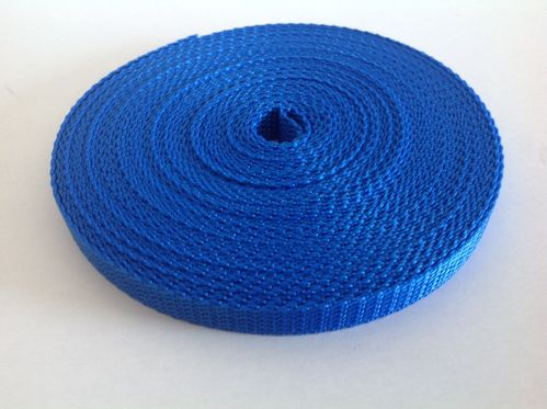 10mm Webbing Blue Polypropylene in 100 metres