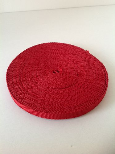 10mm Red Webbing in 10 metres length