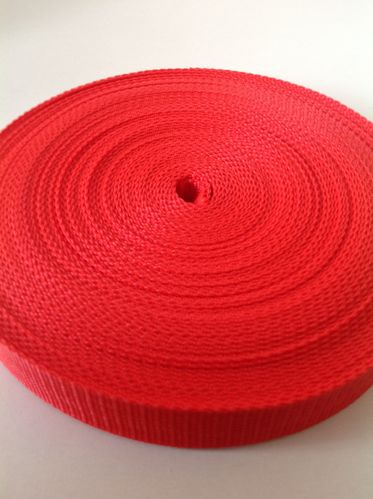20mm Red Polypropylene Webbing x 50 metre