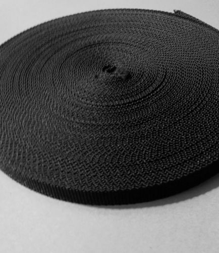 10mm Black Polypropylene Webbing in 10 metre length