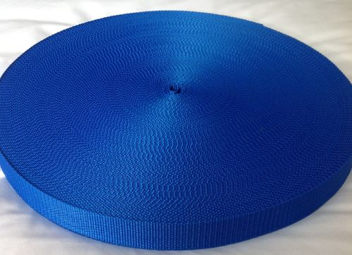 20mm Blue Webbing 3/4 inch Blue x 100 metres length