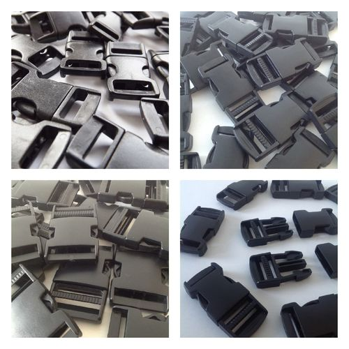 Black Plastic Side Release Buckles 10, 15, 20, 25, 38 and 50mm