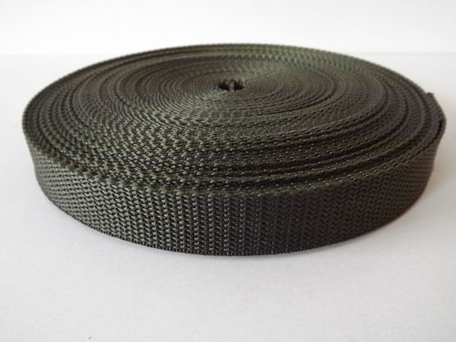 20mm 3/4 inch Olive Quality Polypro Webbing in 50 mts