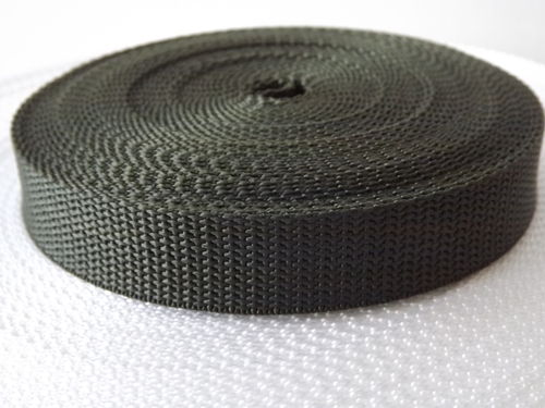 25mm Webbing Olive Green Textured Weave x 50 metres