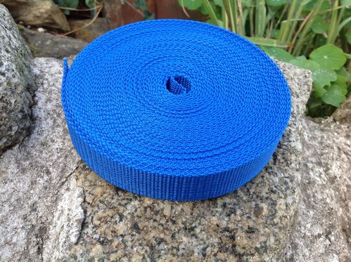 25mm Webbing Royal Blue Textured Weave x 10 metres