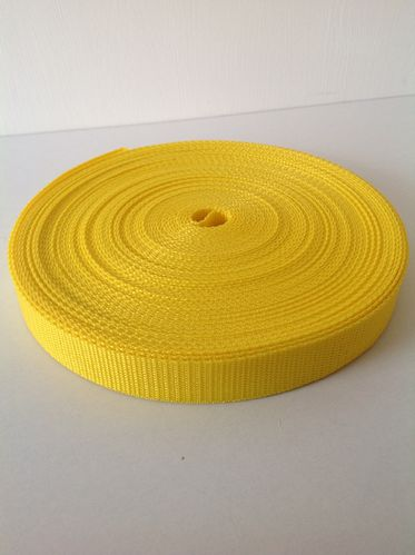25mm Webbing Yellow Textured Weave x 50 metres