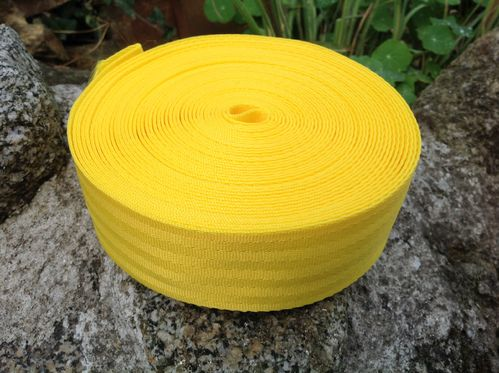 50mm 2 Inch Yellow Herringbone Webbing x 10 metres